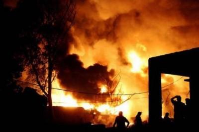 Fire breaks out in warehouse of  plastic scarp