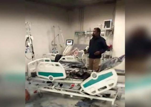 ग्वालियर के कोरोना अस्पताल में लगी आग, दो मरीज झुलसे