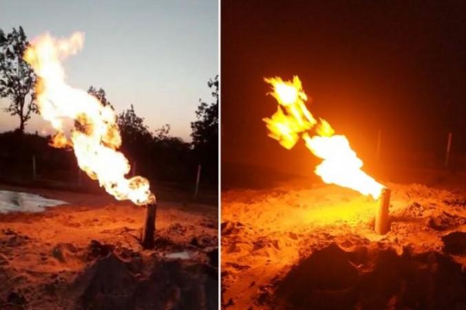 पानी के लिए कराया था बोरिंग, लेकिन निकलने लगी आग, हैरान रह गए लोग