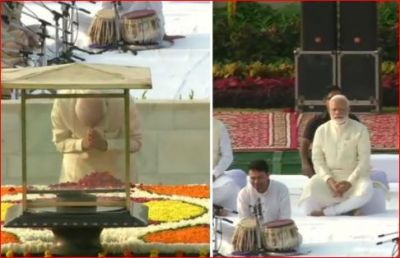 PM Modi, Sonia Gandhi pay tribute to Mahatma Gandhi at Rajghat