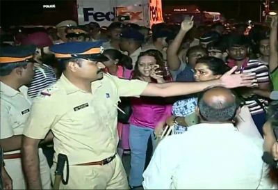 Mumbai: People protest against cutting down of trees, Baton charge