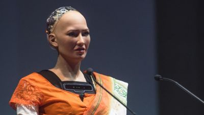 World's first robot citizen Sofia is in Indore to participate in the International Round Square Conference