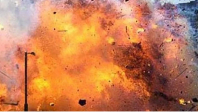 Explosion caused by a bomb blast, man died while making the bomb