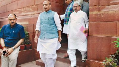 Defense Minister Rajnath Singh will leave today for a three-day visit to Paris