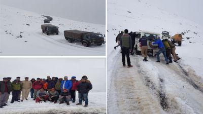 Himachal Pradesh: More than 1,200 people stranded in snowfall, police rescues