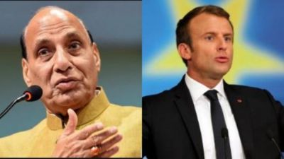 Rajnath Singh and French President Macron meet, talk on mutual relations