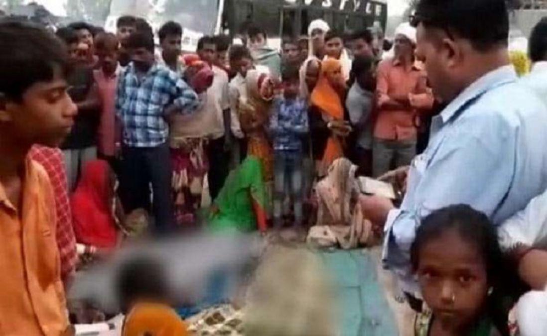 सड़क किनारे सो रहे लोगों को बस ने कुचला, 7 तीर्थयात्रियों की दर्दनाक मौत