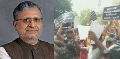 Outrage over waterlogging in Patna, commotion stirred outside deputy CM's house