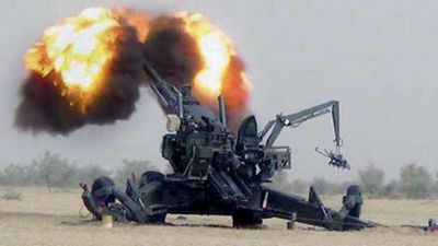 Indigenous Dhanush Howitzer Cannon joins Indian Army