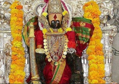 'Trinetra' of Mata Sati dropped In Kolhapur, called ' Kolasura Mardini ' for killing Kaulasura