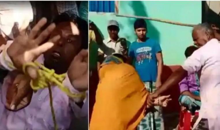 महिला के साथ आपत्तिजनक हालत में पकड़ाया भाजपा नेता, लोगों ने दोनों को पीटा
