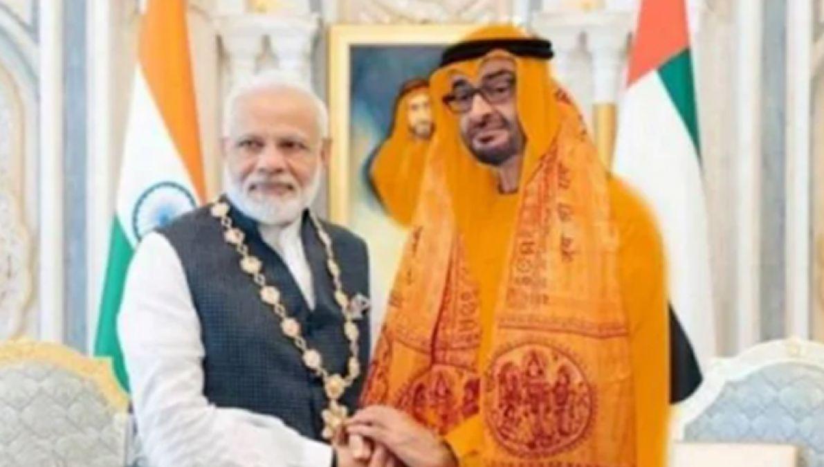 Saudi Crown Prince Mohammed bin Zayed wears Bhagwa dress