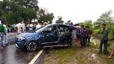 4 men died in a car accident in Sehore, One still missing