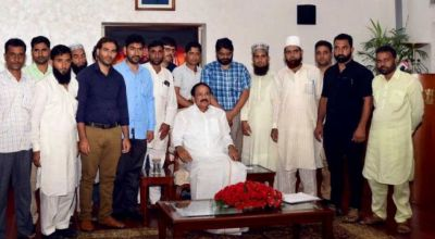 Vice President Venkaiah Naidu Addresses J&K Sarpanches Following Meet