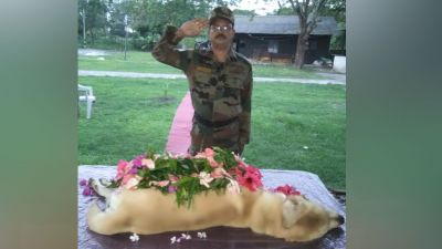 Army's Eastern Command dog said goodbye to the world, Union Minister Jitendra Singh expressed grief