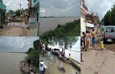 Yamuna above the danger mark in Hamirpur, people spent life on streets