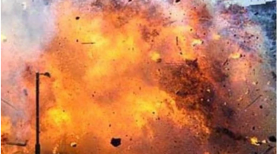 An explosion took place  in the house of a cracker businessman, one dead, two injured