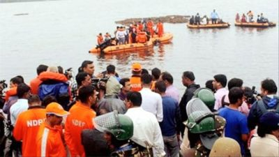 Godavari boat accident: Rescue operations resumed, bodies of 12 people found, 30 still missing