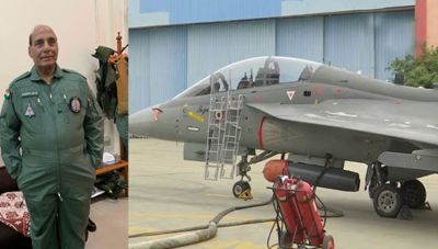 Defense Minister Rajnath Singh will fly in indigenous fighter aircraft Tejas