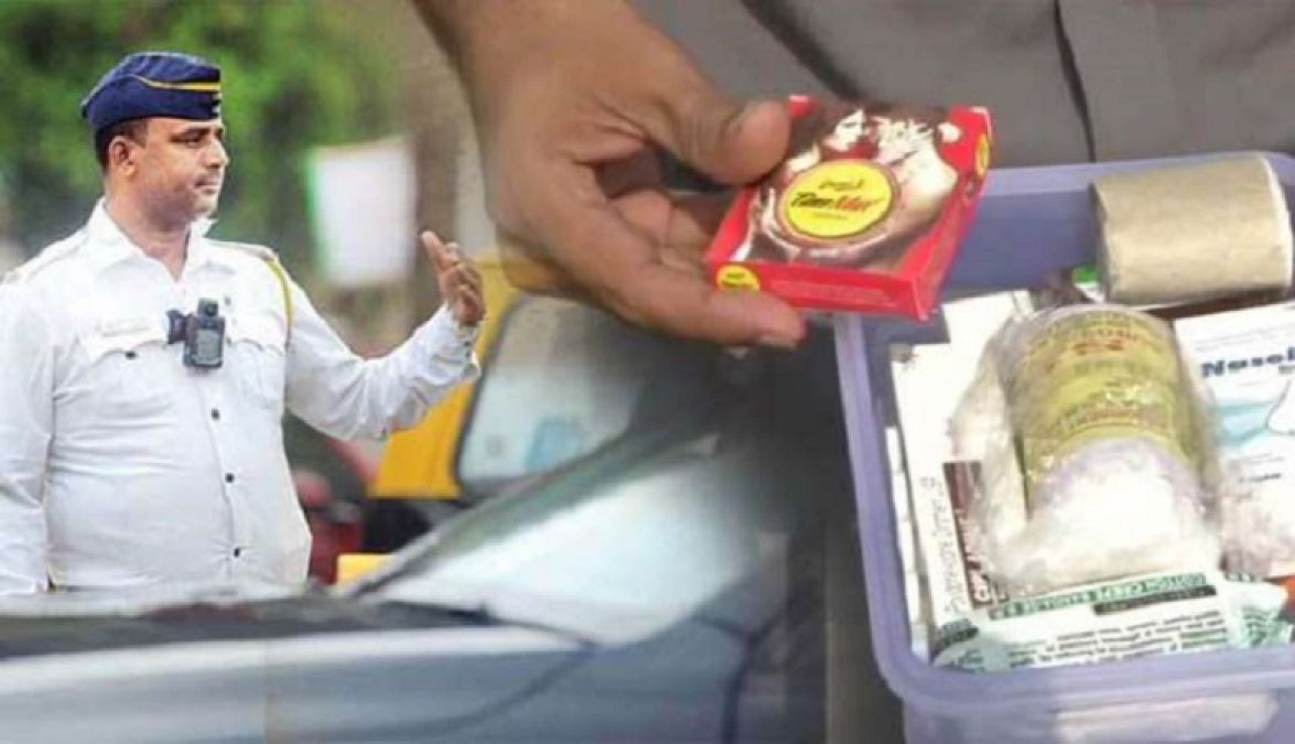 Police issued challan of a cab driver for not having condom in his first aid kit
