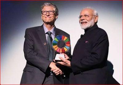 'ग्लोबल गोलकीपर अवॉर्ड' से सम्मानित किए गए पीएम मोदी