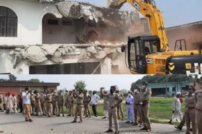 Yogi govt's attack Mafia, Khan Mubarak's luxurious home demolished