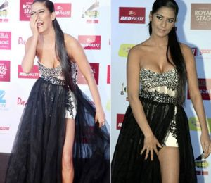 Poonam Pandey wore a revealing outfit on a Red Carpet