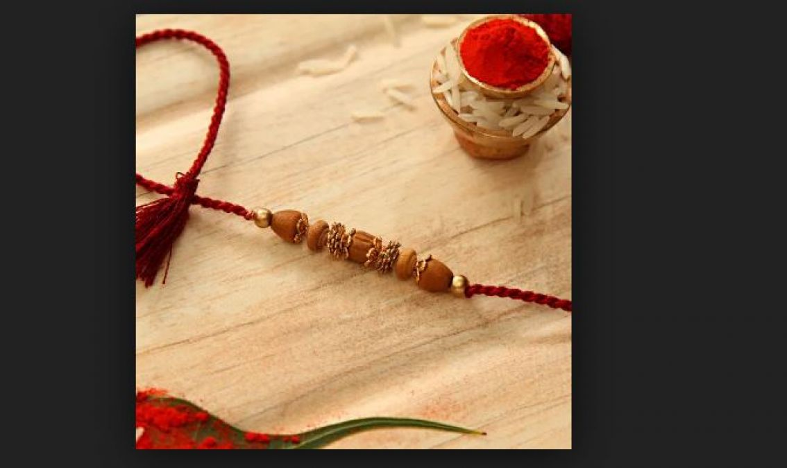 Buy this colored rakhi for your brother on this Rakshbandhan