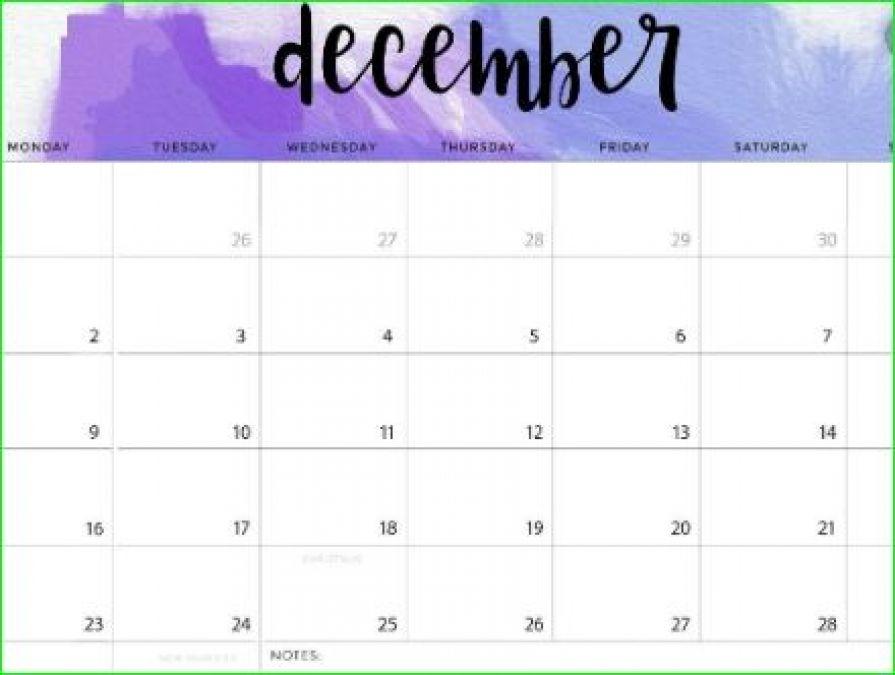 यहाँ जानिए दिसंबर के महीने में आने वाले व्रत और त्यौहार की लिस्ट