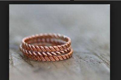 Today's wear Copper Ring and then see the changes