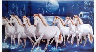 Keep 7 running horse's picture in this direction in your office, luck will change