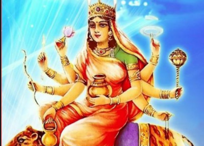 Today is fourth day of Navratri, worship Goddess Kushmanda in this way