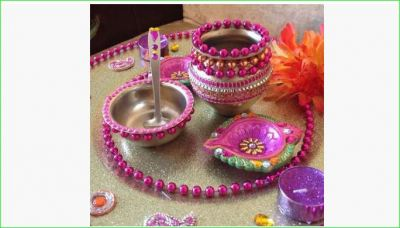 You can decorate puja plate in this simple way on Karvachauth