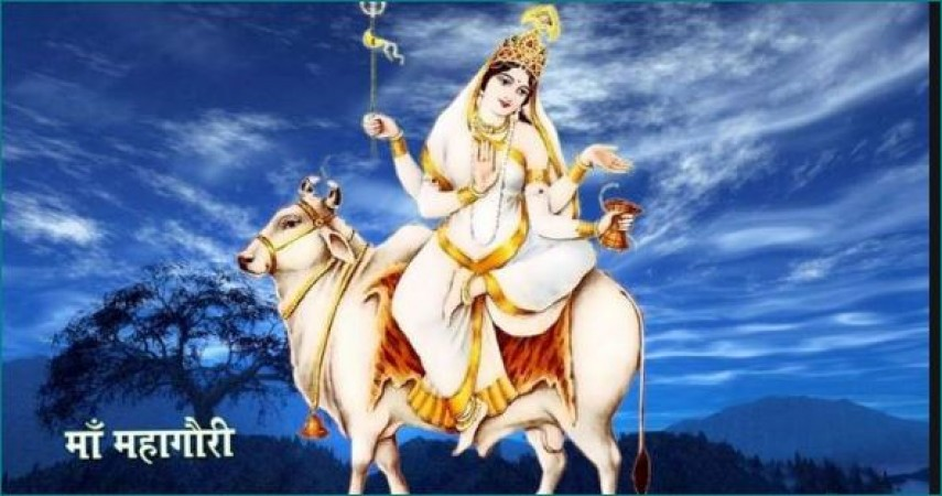 महाष्टमी के दिन इस ध्यान मंत्र और आरती से करें माता महागौरी को खुश