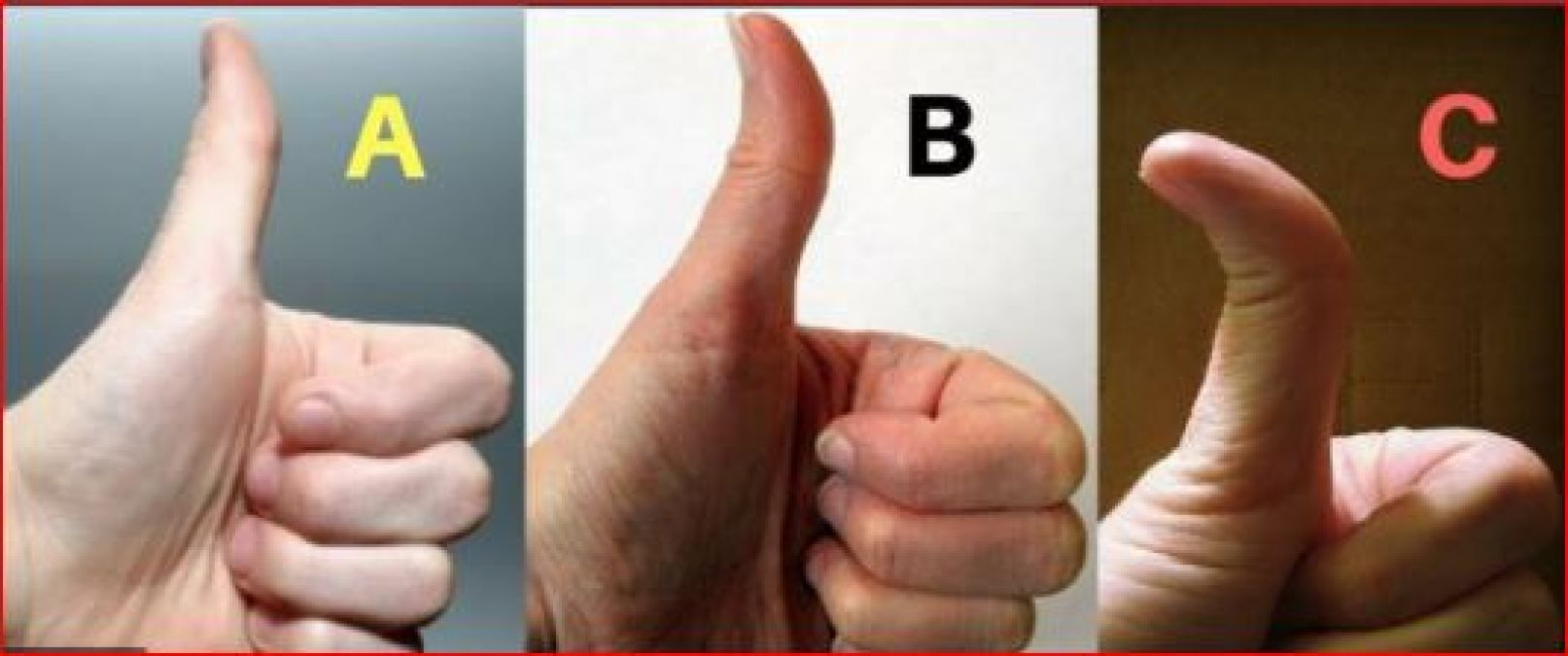 Here's what your thumb says about your personality