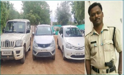 Sub-inspector arrested for mortgaging rental cars