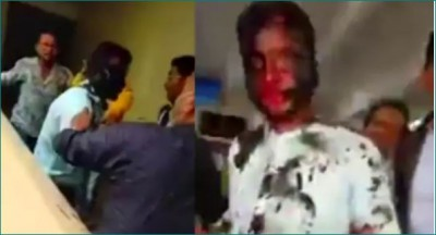 A Teacher's face turned black by his student's family, know the whole matter