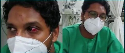 Patient repeatedly removing oxygen mask, doctor refuses, attacked
