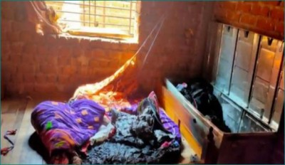 Mother kept three children in the box and burnt them alive