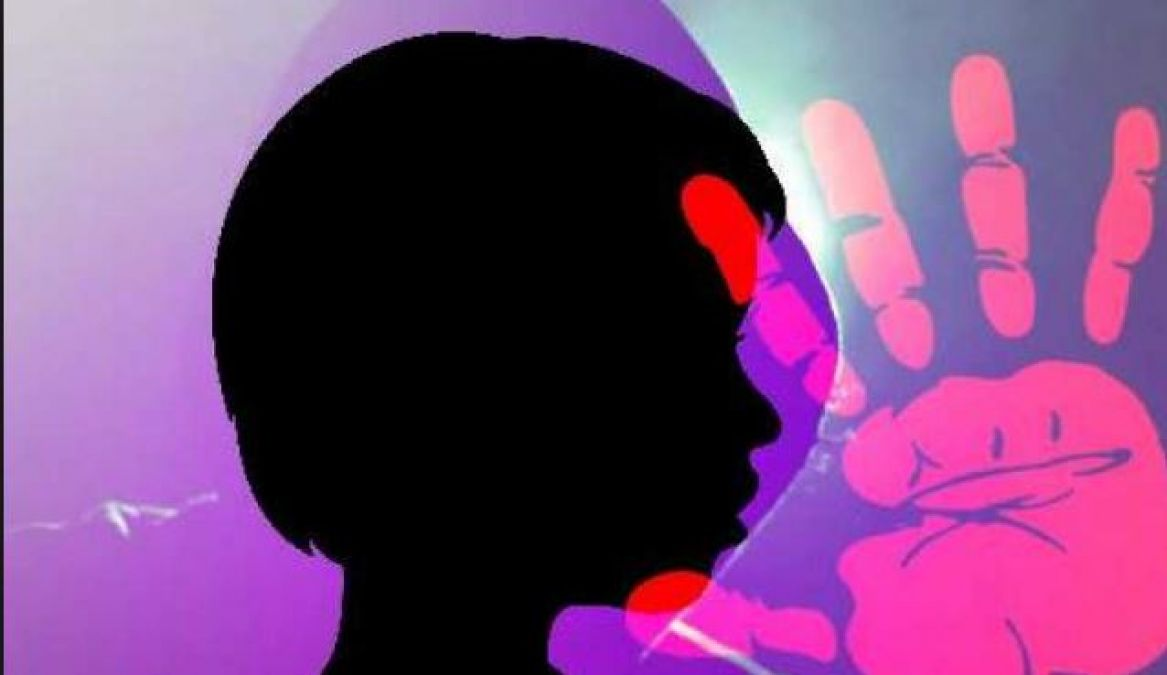 A minor girl raped by a man, absconding