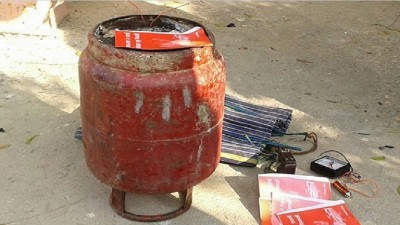 Bihar: Police found cylinder bomb from Holika