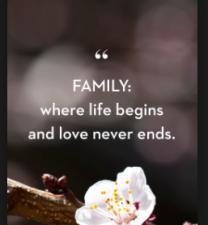 Precious word on family