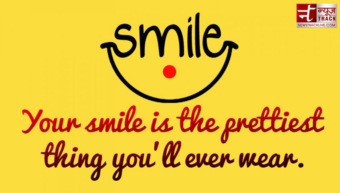 Worry less, smile more | Best Smiling Quotes In English 1 ...