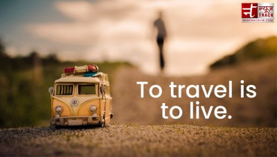 Travel quotes : Travel expands the mind and fills the emptiness