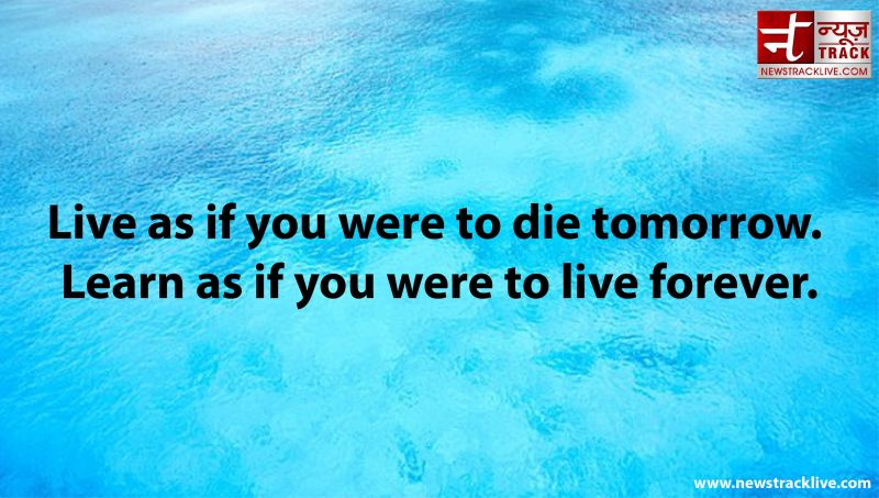 Live as if you were to die tomorrow