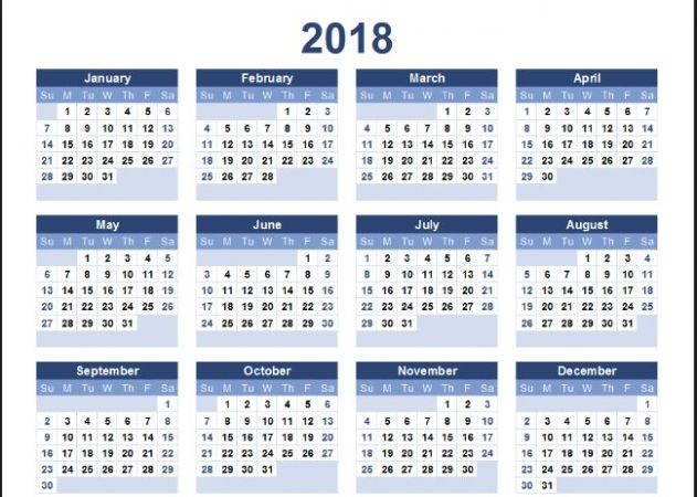 The Complete Calendar Of 2018 Based On Vedic Astrology News Track Live Newstrack English 1