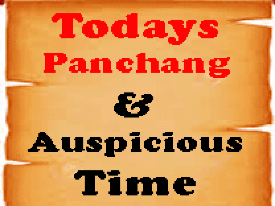 Find out here today's Panchang, Auspicious Muhurat, and Rahukal