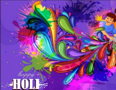 Send colourful Holi messages with the images to your loved ones