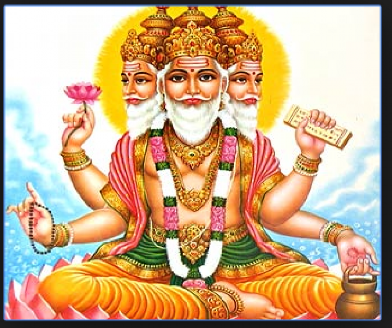 The lord Brahma: Fundamental forces symbolized of universe creator