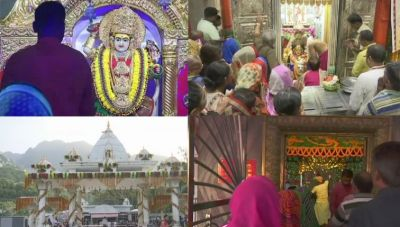 Jai Mata Di :On arrival of Matnani with the Kalash Pooja, Devotees throng to famous temples of nation